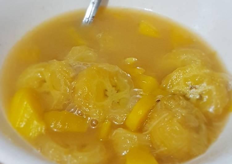 Kolak pisang + nangka with susu tanpa santen