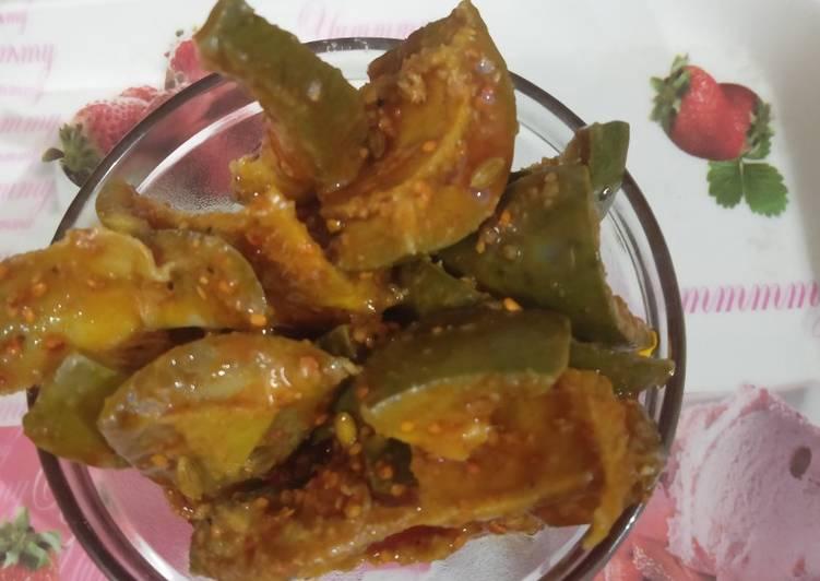 15 Minute Recipe of Homemade Punjab Raw mango pickle