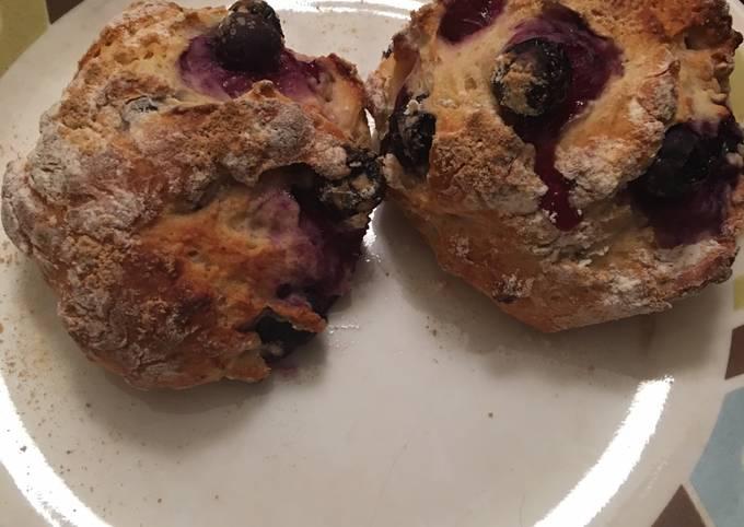 Low fat blueberry scones