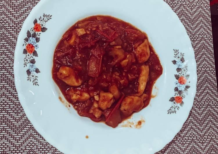 Ayam tomat rumahan mudah, simple dan praktis