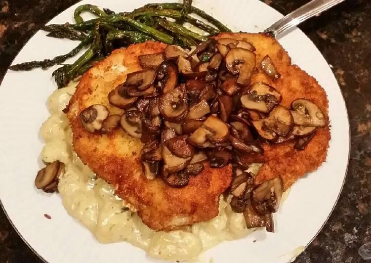 Recipe: Appetizing Brads Chicken cutlets & gnocchi w/ mushroom tarragon cream sauce