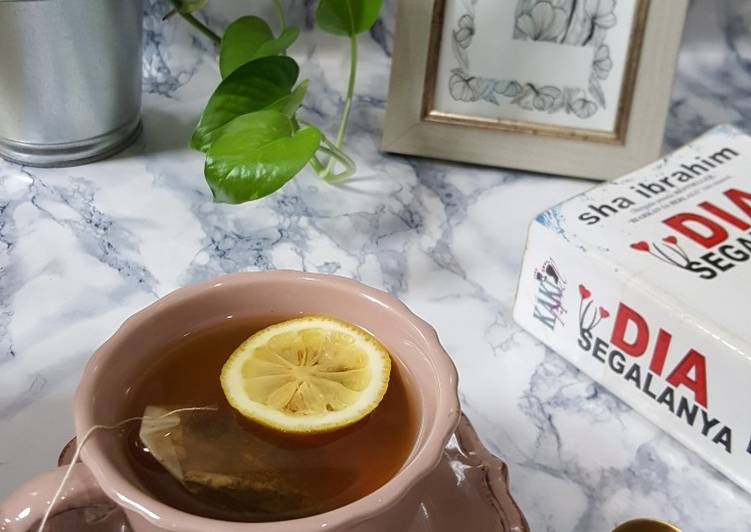 Teh Hijau Lemon Panas - resepipouler.com