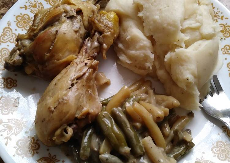 The Best Way to Make Perfect Colorful & Crunchy Easy Bake Chicken & Green Bean Casserole