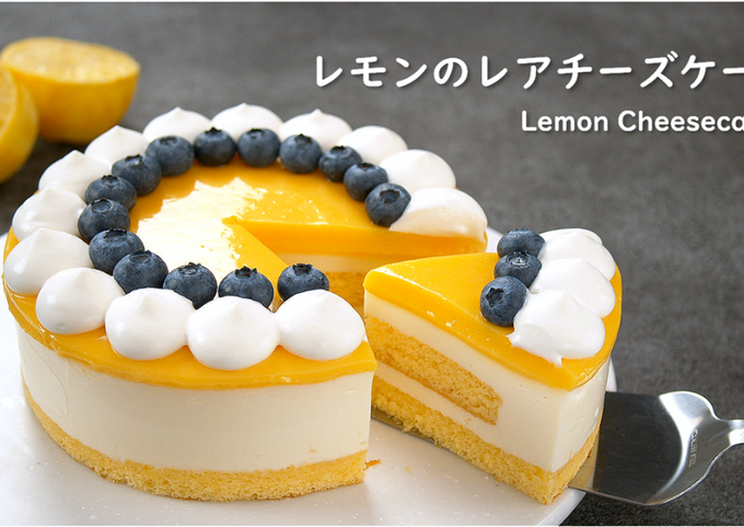 No-Bake Lemon Cheesecake【Recipe Video】