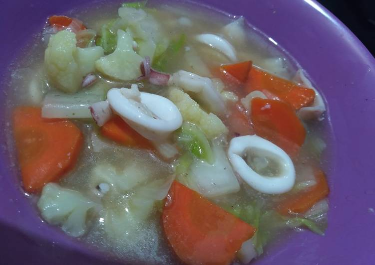 Capcay sotong sayur