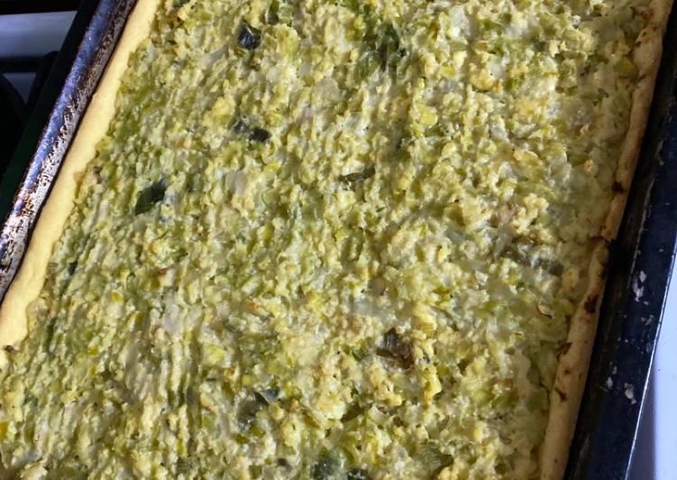Recipe of Favorite Tarta de Puerro/ Leek Quiche