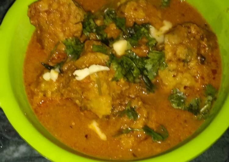 Grandmother's Dinner Easy Quick Gatte Ki Sabji