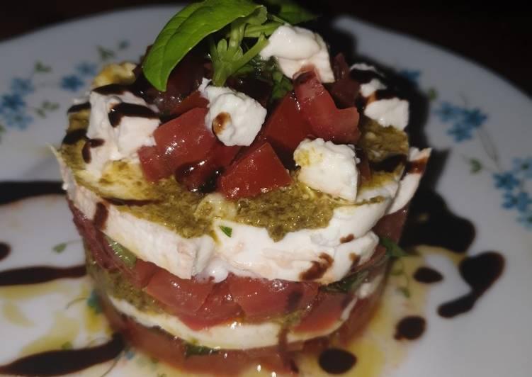 Comment Faire Délicieux Tartare Tomate, Mozzarella, Basilic