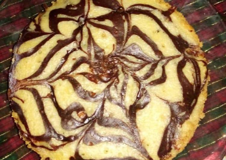 Marble cake without oven
