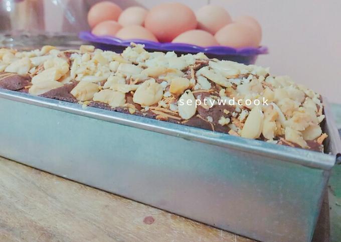 007. Brownies panggang nyoklat 🍫🍰tnpa obat kue 😍