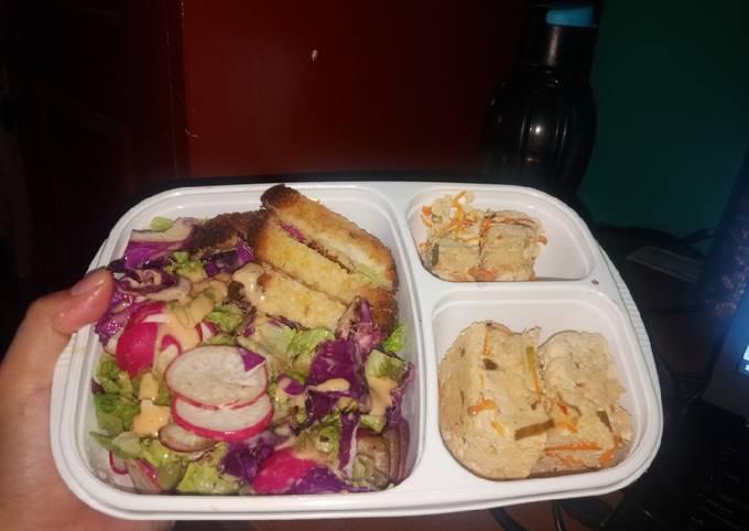 Bekal Salad dan Pepes Tahu