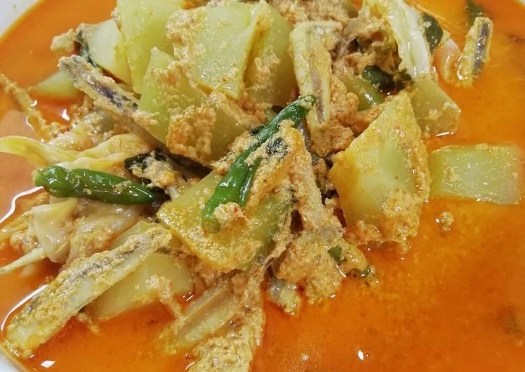 Gulai Kentang Campur Teri & Aneka Sayuran