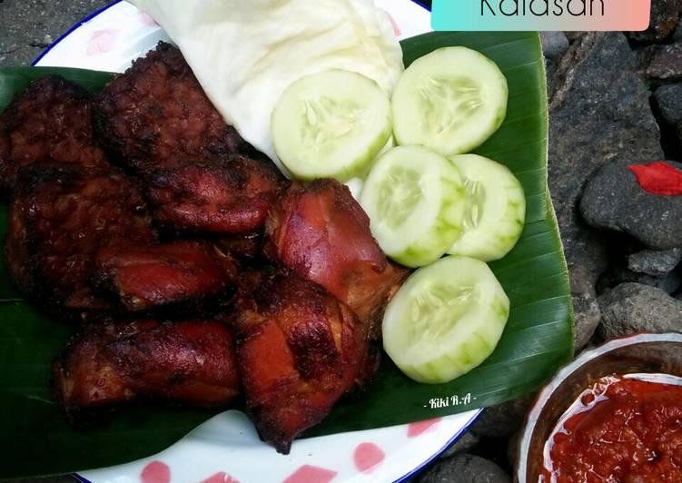 Resep Ayam Bakar Kalasan+Tempe Bacem ala Bunda Ei yang Lezat