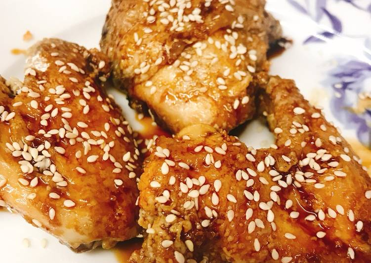 Non-fried Nagoya Style Sticky Chicken Wings