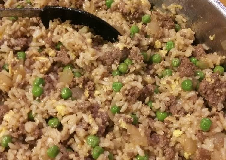 Easiest Way to Make Perfect Ground Beef Fried Rice