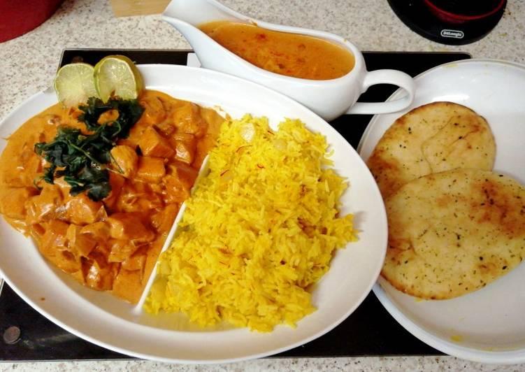 Butter Chicken with Saffron Rice. 😁