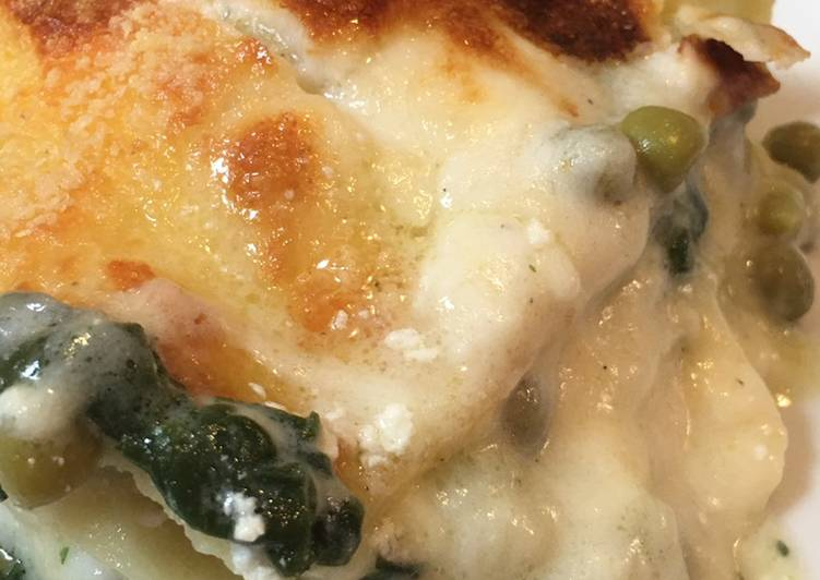 Easiest Way to Cook Delicious Quick lasagna with a mix of vegetables and ricotta clouds