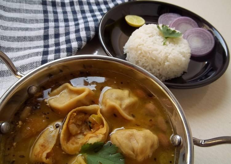 Amazing Food to Feel Ultimate Potato Stuffed Dal Dhokli Recipe Mashed Potato Dumplings With Lentil Curry