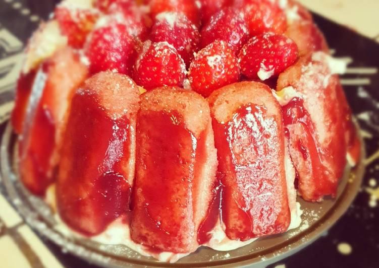 Charlotte aux fraises façon tiramisu
