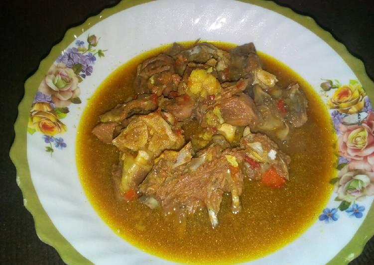 Steps to Prepare Award-winning Mutton pepper soup