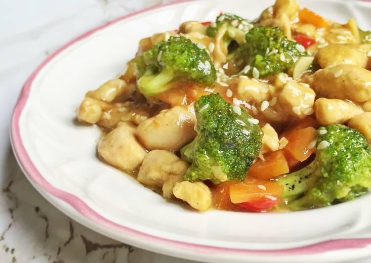 Cah ayam brokoli wortel