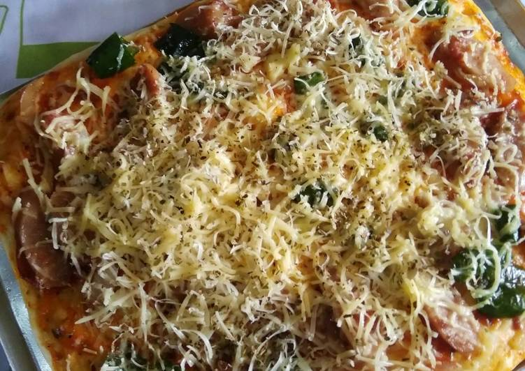 49.) Thin Crust Pizza (versi oven tangkring)