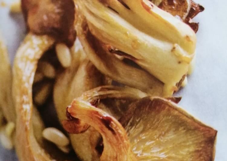 Pleurotes rôtis au sirop d'érable