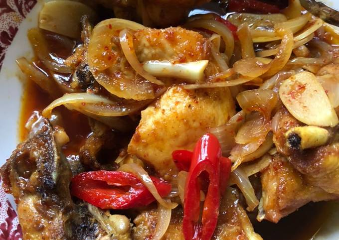 Ayam masak kicap pedas