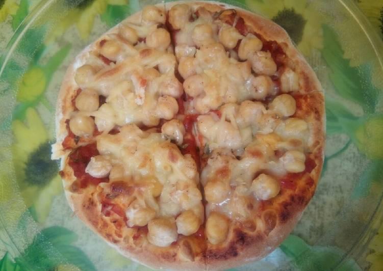 recette Pizza au houmous (pois chiche) 🍕🆒 Le plus simple
