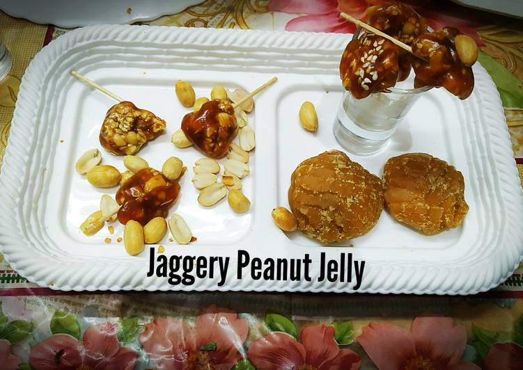 Recipe of Homemade Jaggery Peanuts Jelly