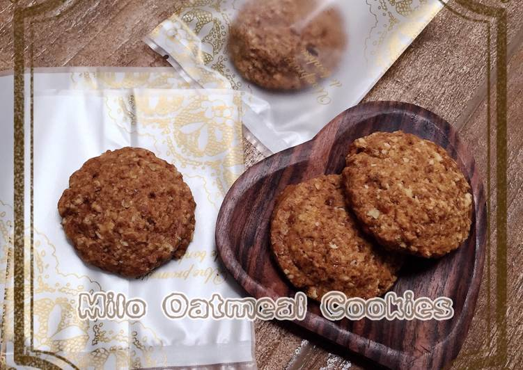 Milo Oatmeal Cookies