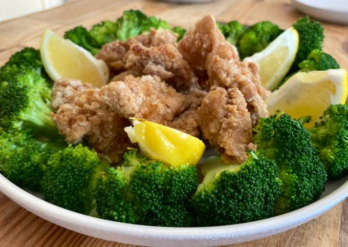 Japanese style fried chicken with Soy sauce, ginger and garlic