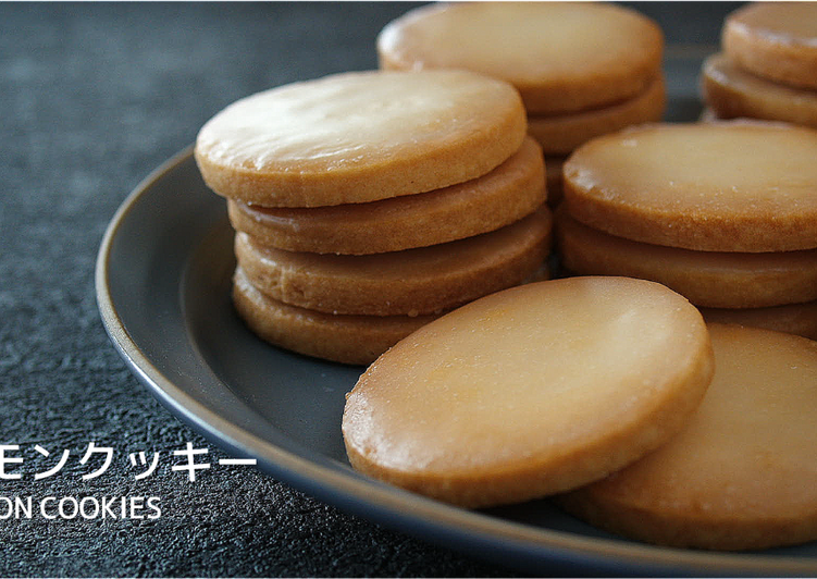Lemon Cookies (Glazed Lemon Butter Cookies) ★Recipe Video★
