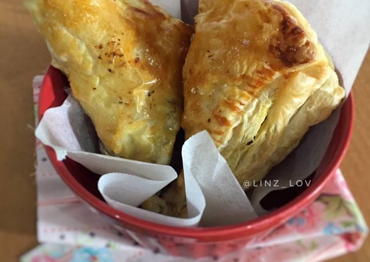 Curry Puff Pastry - Puff isi kari - ide bekal anak sekolah - cemilan enak mudah cepat