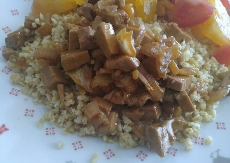 Recette: Tofu fumé sauce soja sucrée