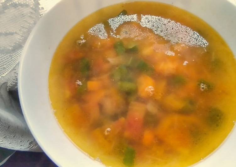 Simple Veggie Soup, Finding Healthy Fast Food