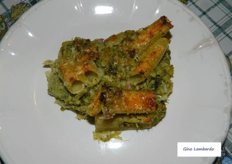 Recipe: Yummy Pasticcio di rigatoni e broccoli al gratin