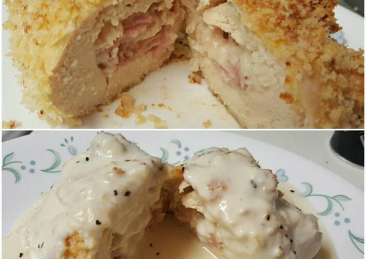 Easiest Way to Make Favorite Chicken Cordon Bleu with Cheese Sauce