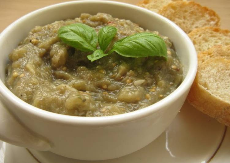 Steps to Make Super Quick Homemade Vickys Aubergine (Eggplant) Spread / Baba Ganoush GF DF EF SF NF
