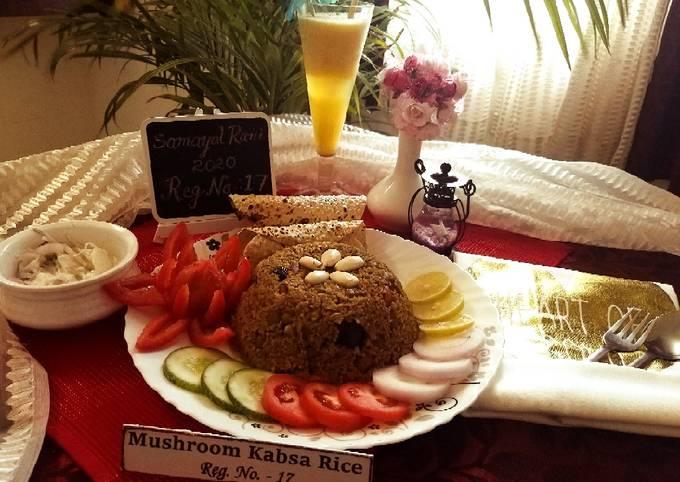 Mushroom kabsa rice