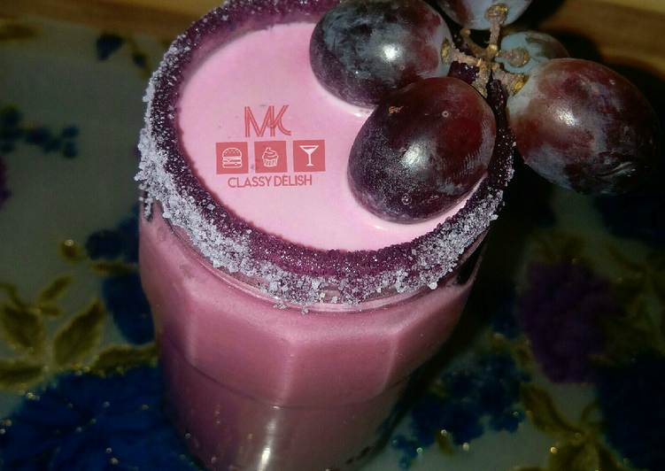 Easiest Way to Prepare Perfect Grapes smoothie