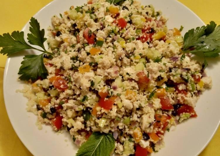 Taboulé – Couscous-Salat mit Hühnchen