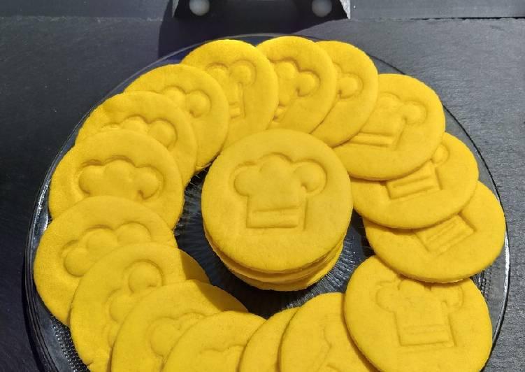 Biscuits jaune à le fleur d'oranger
