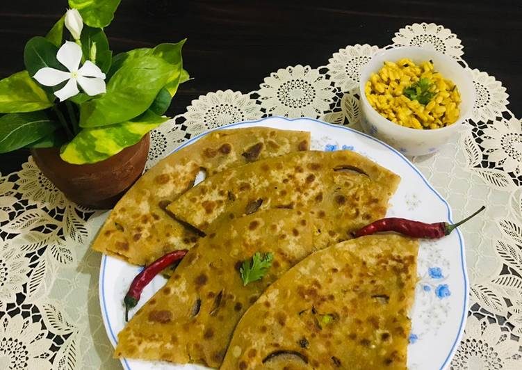 Simple Way to Prepare Speedy Left overs mash daal paratha
