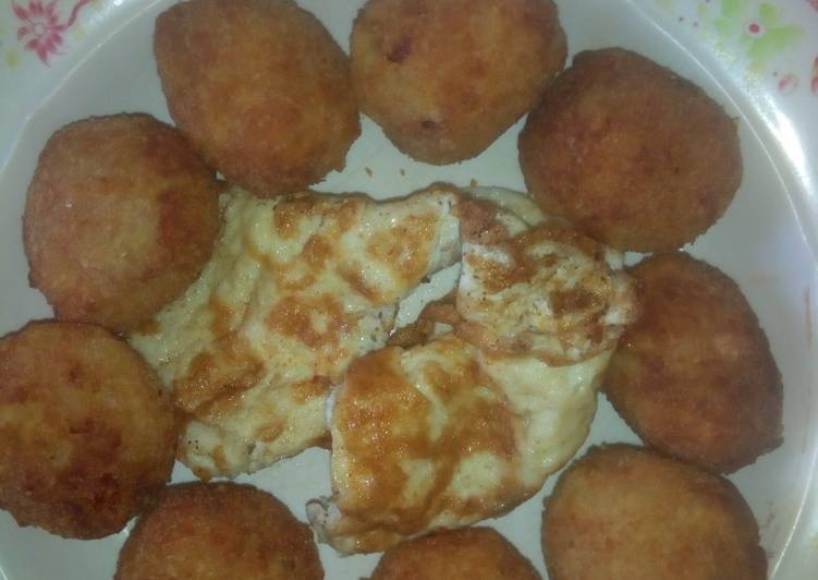 Bread crumbs coted Yam Balls