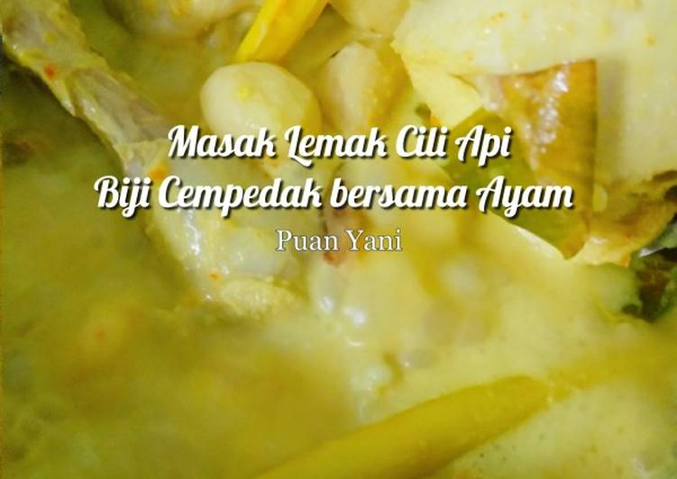 Masak Lemak Cili Api Biji Cempedak bersama Ayam - velavinkabakery.com