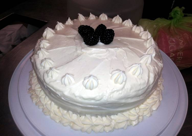 Lemon Cake w/ lemon cream cheese frosting