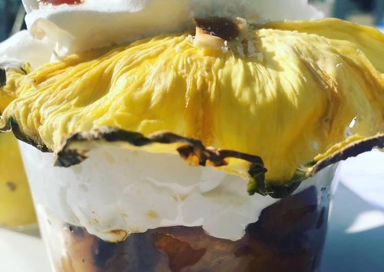 Comment Faire Des Ananas rôtis sur mousse de coco