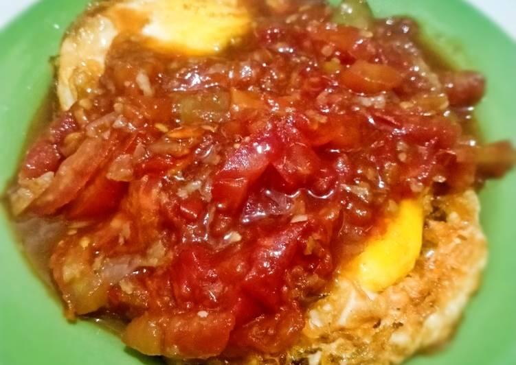 Telur Ceplok sambal tomat