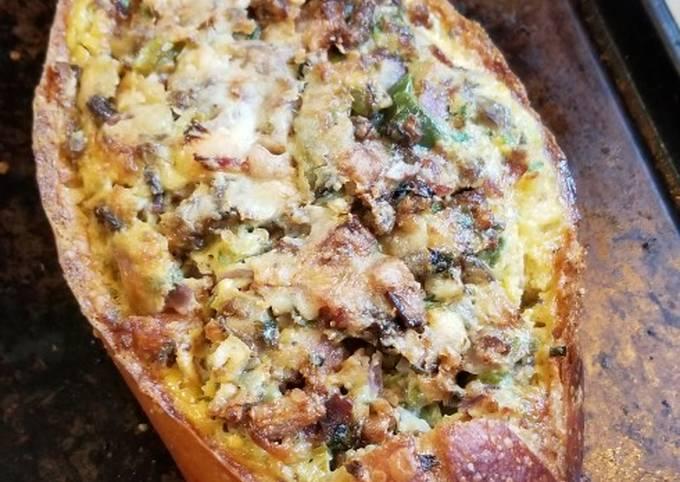French Bread Breakfast Boat